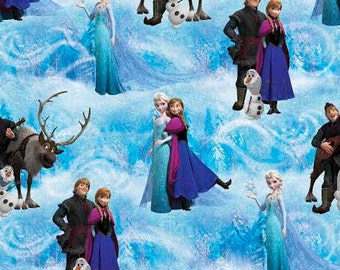Gorgeous Frozens Elsa Anna n Friends Fabric--from Movie FROZEN--Hard Find--BTHY---So Cute-- 40-70% off Patterns n Books SALE