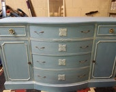 PainTed FurniTure BuffeT, DreSser, StoraGe BlUe, ChaLk PainT,  *LOCAL pIcK Up oR DeLiVerY ONLY*