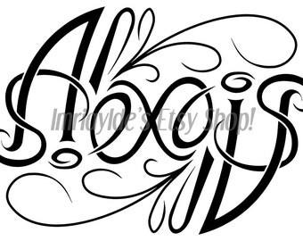 Custom ambigram - single name