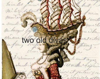 Marie Antoinette Digital Download Decal Artwork Transfer Head Of The Castle
