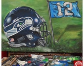 CUSTOM NFL HELMET Painting christmas gift present awesome jeremy worst sexy football art artwork star great gift for him