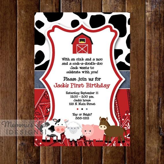 Farm Invitation, Farm Animals Birthday Party Invite, Farm Invite, Farm Party, Farm Birthday Invitation, Farm Birthday Invite, Farm Printable