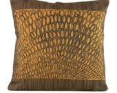 "STUDIO CLEARANCE SALE *** Pebbles 18""x18"" pillow- Hand silkscreen textiless"