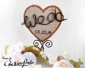 Customize Rustic Wedding Cake Topper, We do