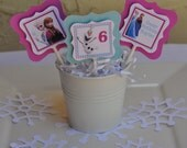 Frozen cupcake toppers, set of 12