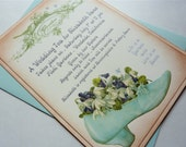 Wedding Tea Bridal Shower Invitation, Floral Garden Party, Vintage Style - Set of 10 with envelopes