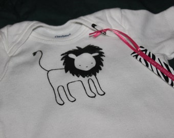 Little Lion Screen Printed Onesie