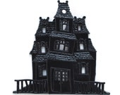 Haunted House Cake Topper / Halloween Cake Decoration