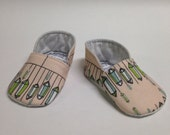 3-6 month Hanging Gems on Pale Apricot Chukka Baby Shoes - READY TO SHIP
