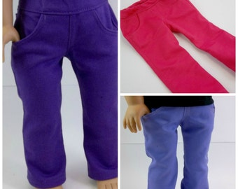 18 inch Doll  Skinny Jeans with Real Pockets Fits American Girl Doll Pants Doll ClothesToys