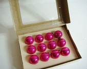 Mercury Glass Hot Pink  Miniature Christmas Tree Ornaments - Shiny Bright