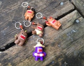 DOMO Stitch Markers - Set of Five - Brown