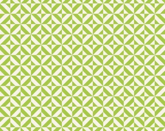 Fun and Games by Lori Whitlock for Riley Blake Designs Green Geometric 1/2 yard
