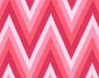 Color Me Happy from V and Co and Moda fabrics, Ikat Chevron stripe Pink, 1/2 yard total