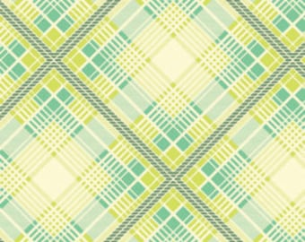 Up Parasol, from Heather Bailey and FreeSpirit/Westminster fabrics, Summer Plaid Turquoise, 1/2 yard total