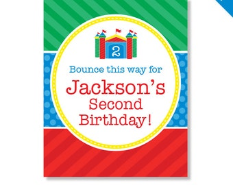 Bounce House Party - Personalized DIY printable sign
