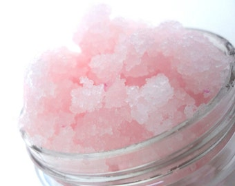 Whipped Sugar Body Scrub in Pink Sugar or Buttercream Vanilla -Great for Dry Cracked Heels too- CHOOSE YOUR SIZE