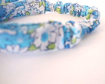 Retro Daisy Comfy Fabric Headband.  Infant, Toddler, & Child sizes. Made from Recycled Fabrics.