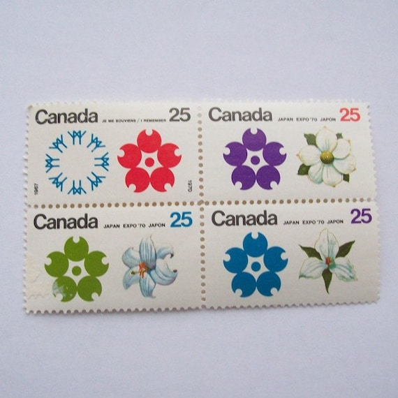 Expo 1970 Canadian Stamp Set Mint Block