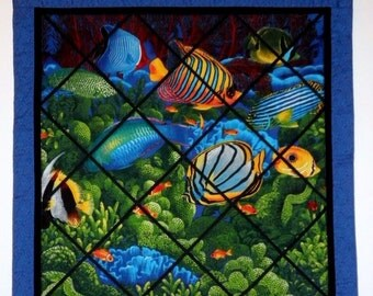 Fabric Wall Hanging - Fish Scene in the Ocean