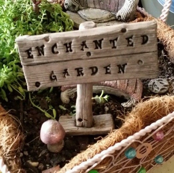 Fairy Door Garden Sign Enchanted Garden 3 Days Only Free