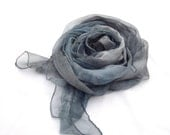 Rain cloud Hand painted Silk Shawl Fashion headband