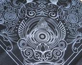 Nautilus Bandana- Black and Silver