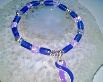 "Pediatric Stroke & Rheumatoid Arthritis Bracelet (311)  8"", cancer awareness, cause jewelry, best pediatric stroke bracelet, cause bracelet"