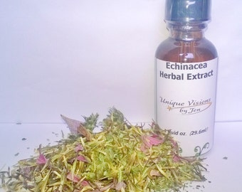 Echinacea Extract, 1 oz, herbal extract, herbal tincture, herbal remedy, natural remedy, Unique Visions by Jen