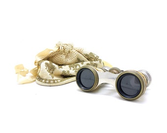 Antique Lamier Mother of Pearl Binoculars - Free Shipping