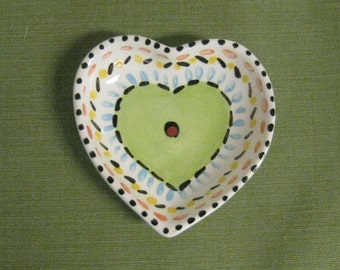 Ceramic Heart Shaped Dish