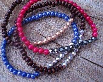 Beaded Crystal Stack Bracelet (choice)