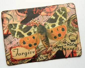 ACEO Original Collage Moth