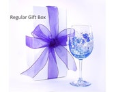 "Gift Boxes for Wedding Party Champagne Wine Glasses, Matching Ribbon 8 Gift Box Kits 10""x 4"""