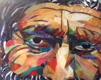 SALE ... Sage 2 Mosaic Art on glass - Commission Piece