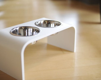 8 inch Modern Elevated Dog Bowl Stands