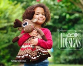 CROCHET PATTERN Eh Moose Snuggle Blankey Lovey Blanket  PDF Crochet Pattern Instant Download