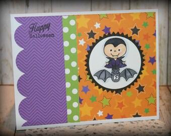 Happy Halloween Handmade Greeting Card *Sale*