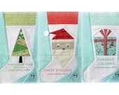 Stocking Trio, a Paper Piecing Pattern