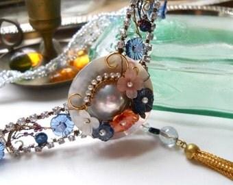 Modern Meets Vintage Deco Style Chevron Necklace