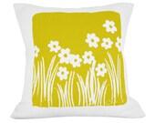 Wild Flora 20in Pillow in Golden Rod