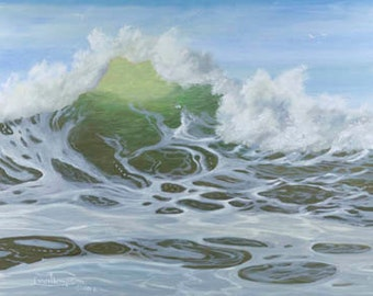 High Translucency Paper or Canvas Giclee Print Seascape Ocean Pacific Northwest Coast by Carol Thompson