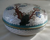Vintage Cloisonne Bowl with Lid