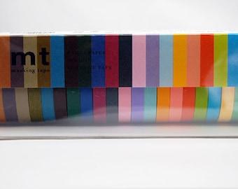 7mm washi tape set of 20pcs x 7mm x 10M colors rolls Mt box washi masking tape, 20 washi tapes Mt original package