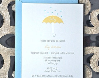 Baby Shower Invitation, New Baby, Shower Invites, Baby Shower Invites, Baby Shower, Umbrella Baby Shower Invites