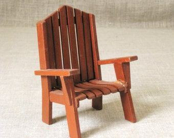 Dollhouse Furniture , Chair ,  Vintage Folk Art , Doll House Furniture , Dollhouse , Miniature Furniture , Folk Art , Toy Furniture