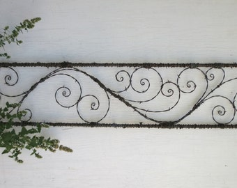 5 feet of Elegant Spirals Barbed Wire Spirilian Trellis Made to Order