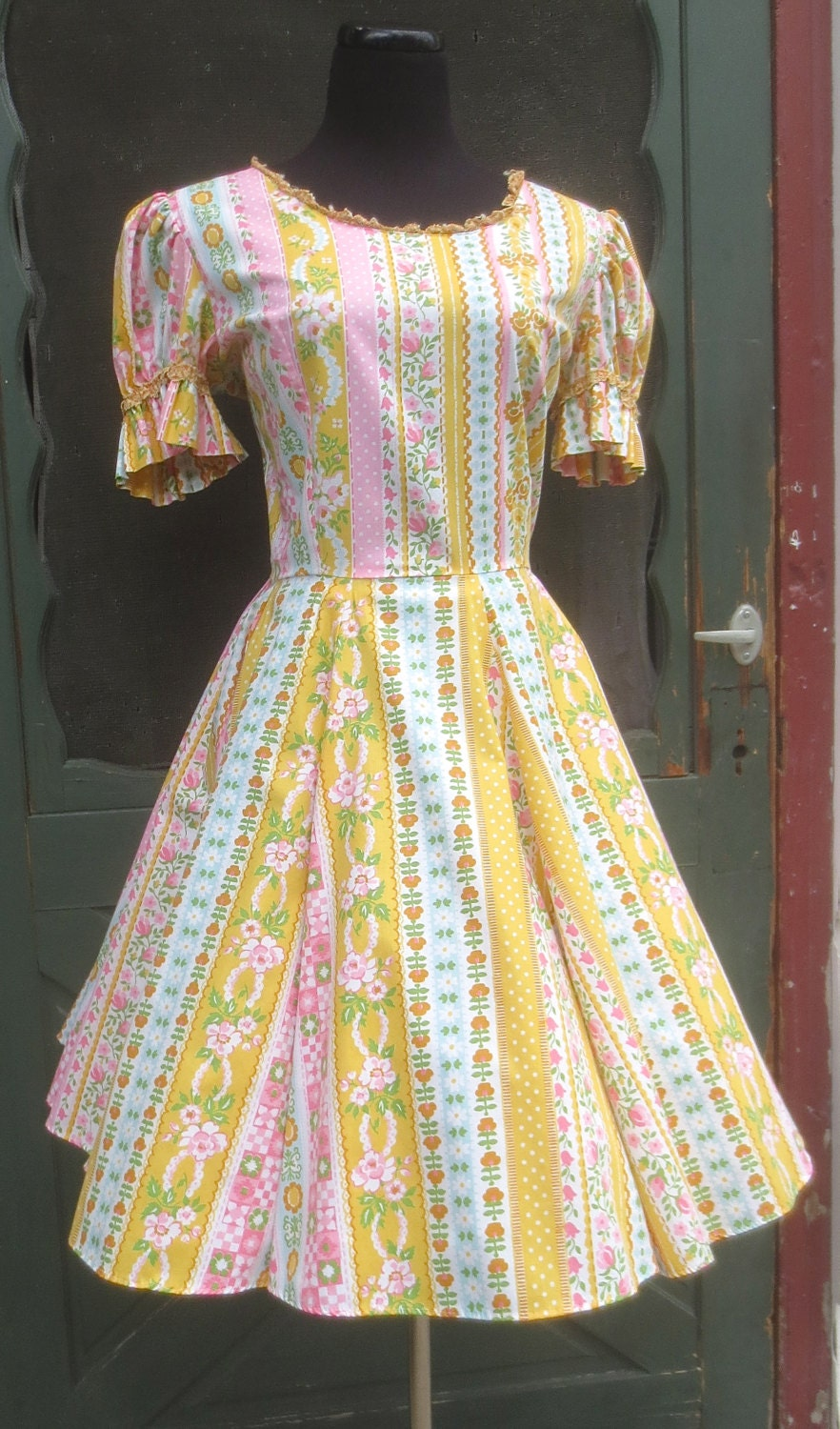 Vintage 1950 S Country Girl Square Dance By Delilahsdeluxe