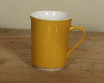 vintage syralite harvest gold coffee cup by syracuse