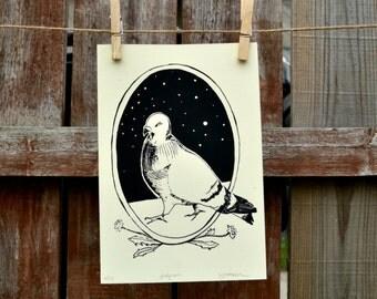 City Pigeon Print